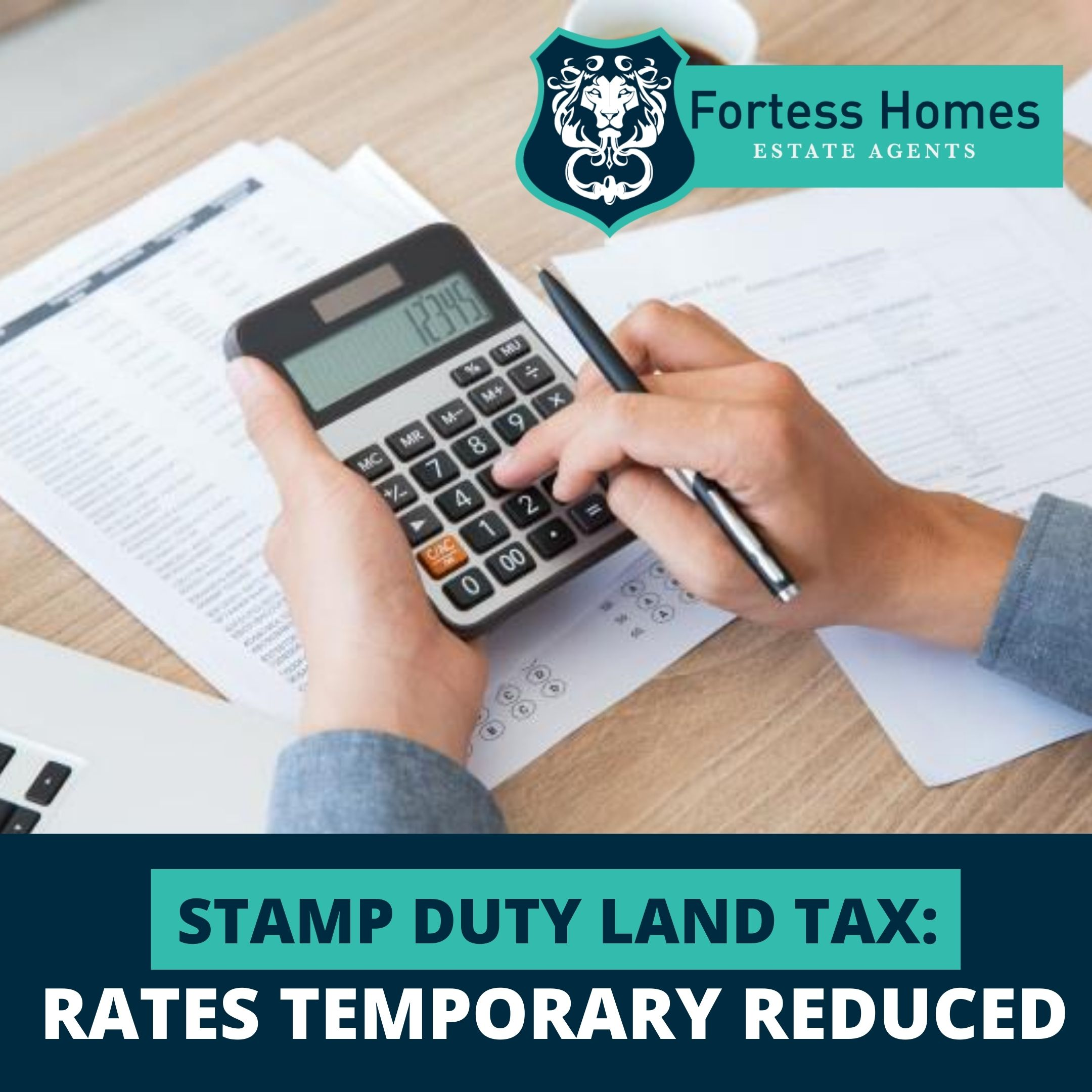 STAMP DUTY LAND TAX: RATES TEMPORARY REDUCED