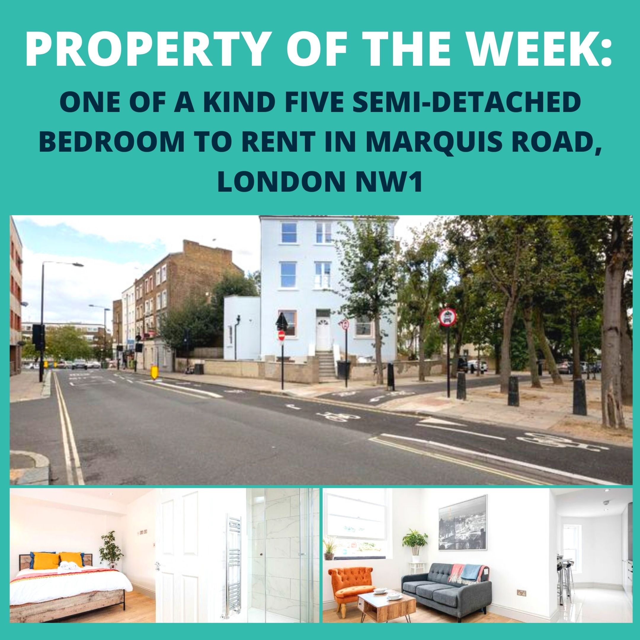 PROPERTY OF THE WEEK: ONE OF A KIND FIVE SEMI-DETACHED BEDROOM TO RENT IN MARQUIS ROAD, LONDON NW1