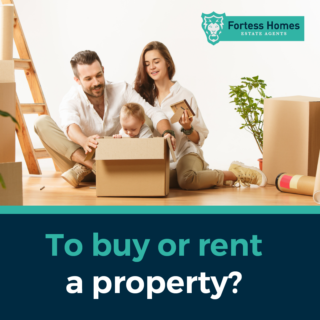 To buy or rent a property?